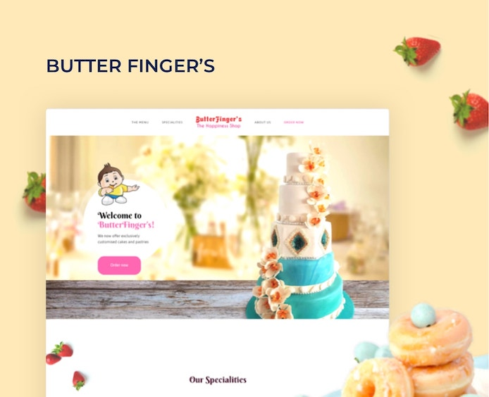 butterfingers UI/UX website