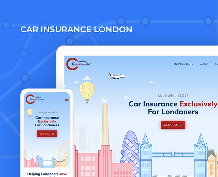 car insurance london UI/UX website