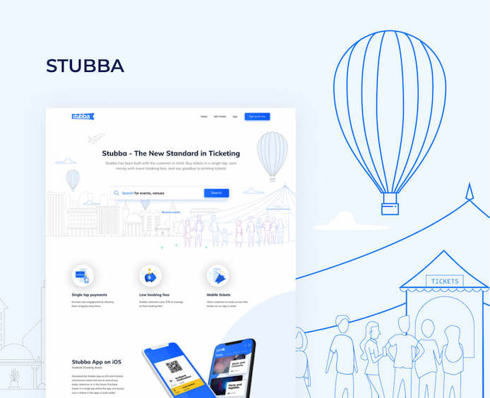 case-study-stubba UI/UX website mobile apps