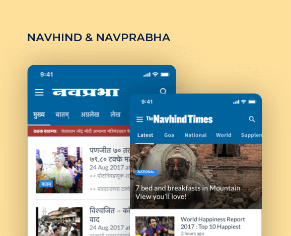 navhind ios and android app